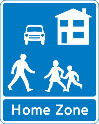 Information-sign-home-zone-entry