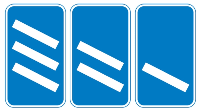 information-sign-motorway-exit-countdown-markers