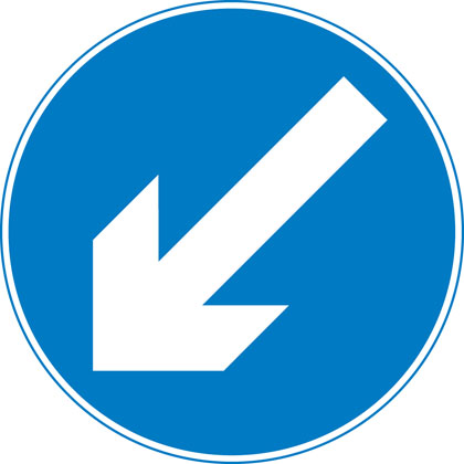 sign-giving-order-keep-left