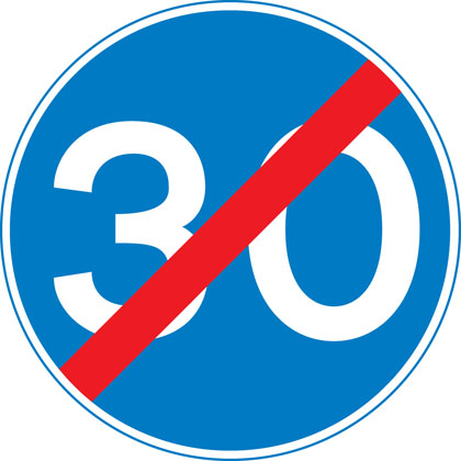 sign-giving-order-minimum-speed-end