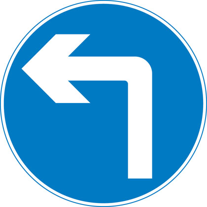 sign-giving-order-turn-left-ahead