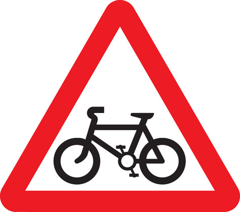 warning-sign-cycle-route-ahead